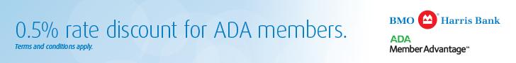 BMO Harris and ADA Member Advantage banner ad