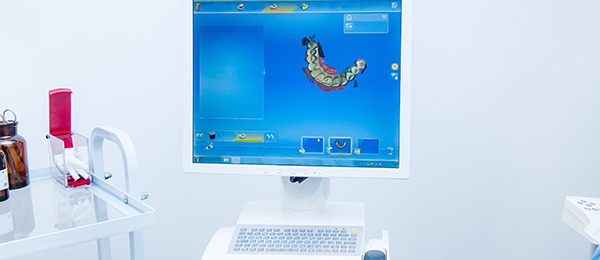 Computer in a dental office