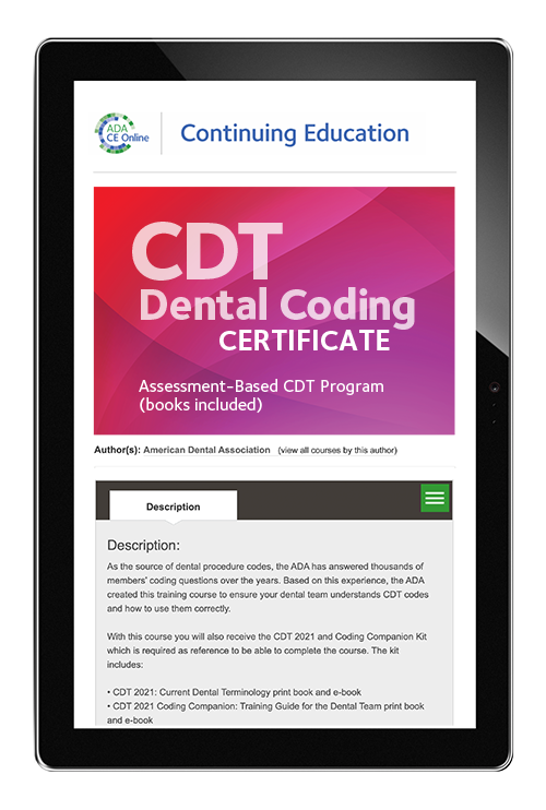 CDT Dental Coding Certificate