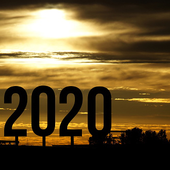 2020 numbers and sunrise