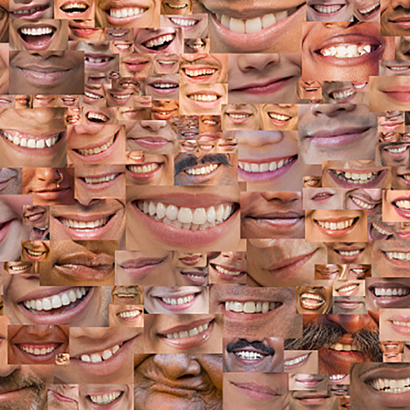 A collage of smiles