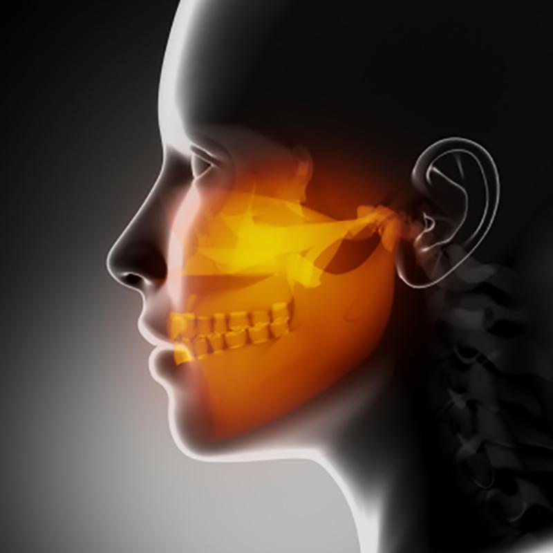 Maxillofacial area of face